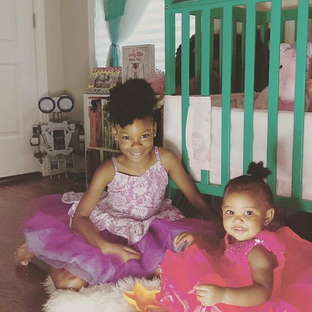 Me and my #littlesister just playing #dressup She loves it!!! #Shadesofmedoll #shadesofme #blackgirlmagic #playtime #sisters