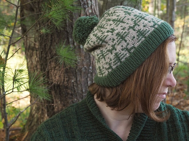 Leah B. Thibault's  Woodland Hat  would be a thoughtful gift for nature lovers or hikers on your gift list. It's knit in two colors of sportweight yarn, with several sizes ranging from child to adult large. Even better — there are  matching mittens  (also on sale)!