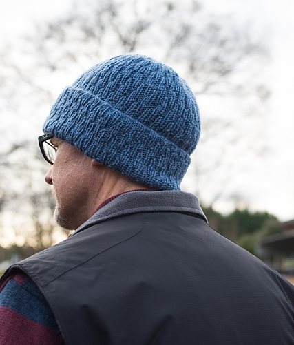 Lastly, for the men on your gift-knitting list:  I Can't Control My Brain , by the endlessly inventive Barbara Benson. Knit in sport weight  Stitch Sprouts Yellowstone , this unisex hat has a super deep brim to keep ears toasty warm. Best of all, it's perfect for all of us  Ramones fans .