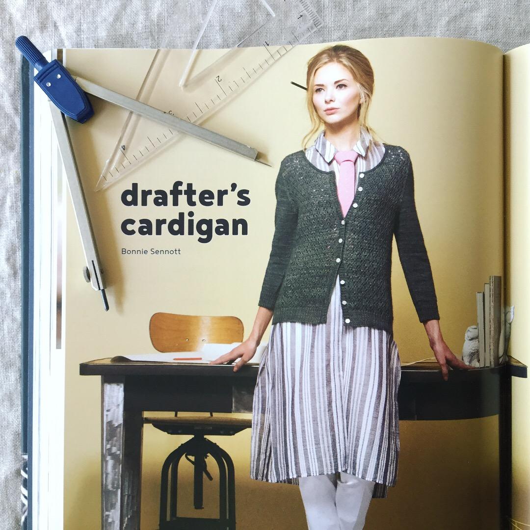 Drafter's Cardigan, by Bonnie Sennott