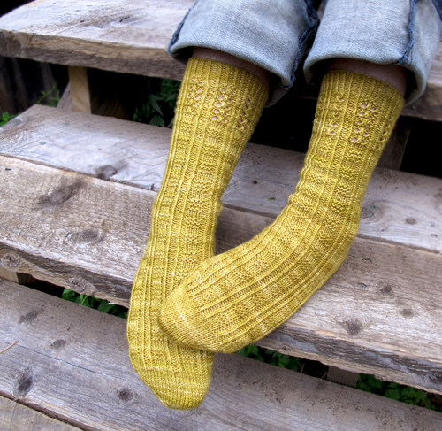 Couplet Socks, by Bonnie Sennott