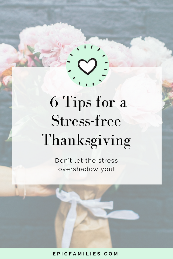 Holidays can be tough for busy moms! I just realized with horror last week that Thanksgiving was just a week away and that there are not nearly enough shopping days before Christmas! Eek! Don't let the stress overshadow you! Read how: https://www.epicfamilies.com/blog/stress-free-thanksgiving