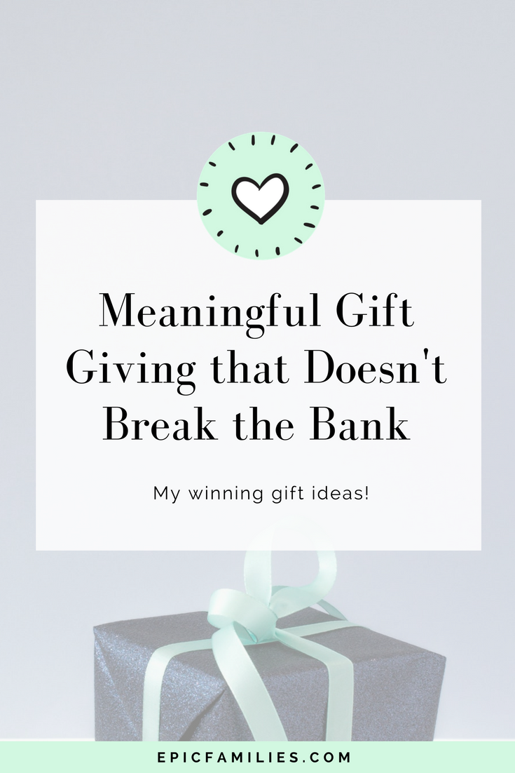 This is a wonderful time of year to reach out to others and let them know that you appreciate them. It can be an expensive as well as exhausting task, though, especially if there are lots of peeps to thank. Read more here:   https://www.epicfamilies.com/blog/meaningful-gift-giving