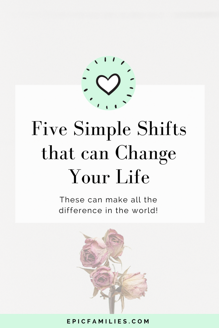 As a mom, it's so, so easy to get sucked into the vortex of frustration, yelling, and overwhelm. Don't. Five simple shifts in your thinking can make all the difference in the world! Read more: https://www.epicfamilies.com/blog/five-simple-shifts