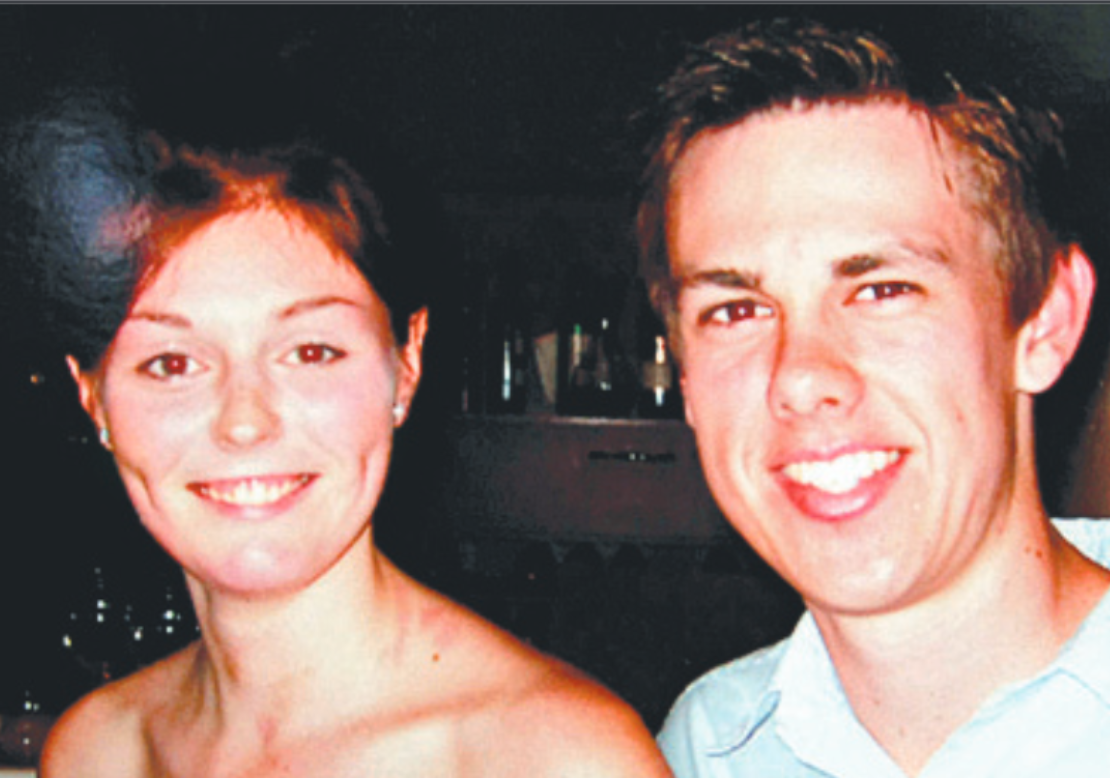 Wounded Kate Anstee and boyfriend David Coker