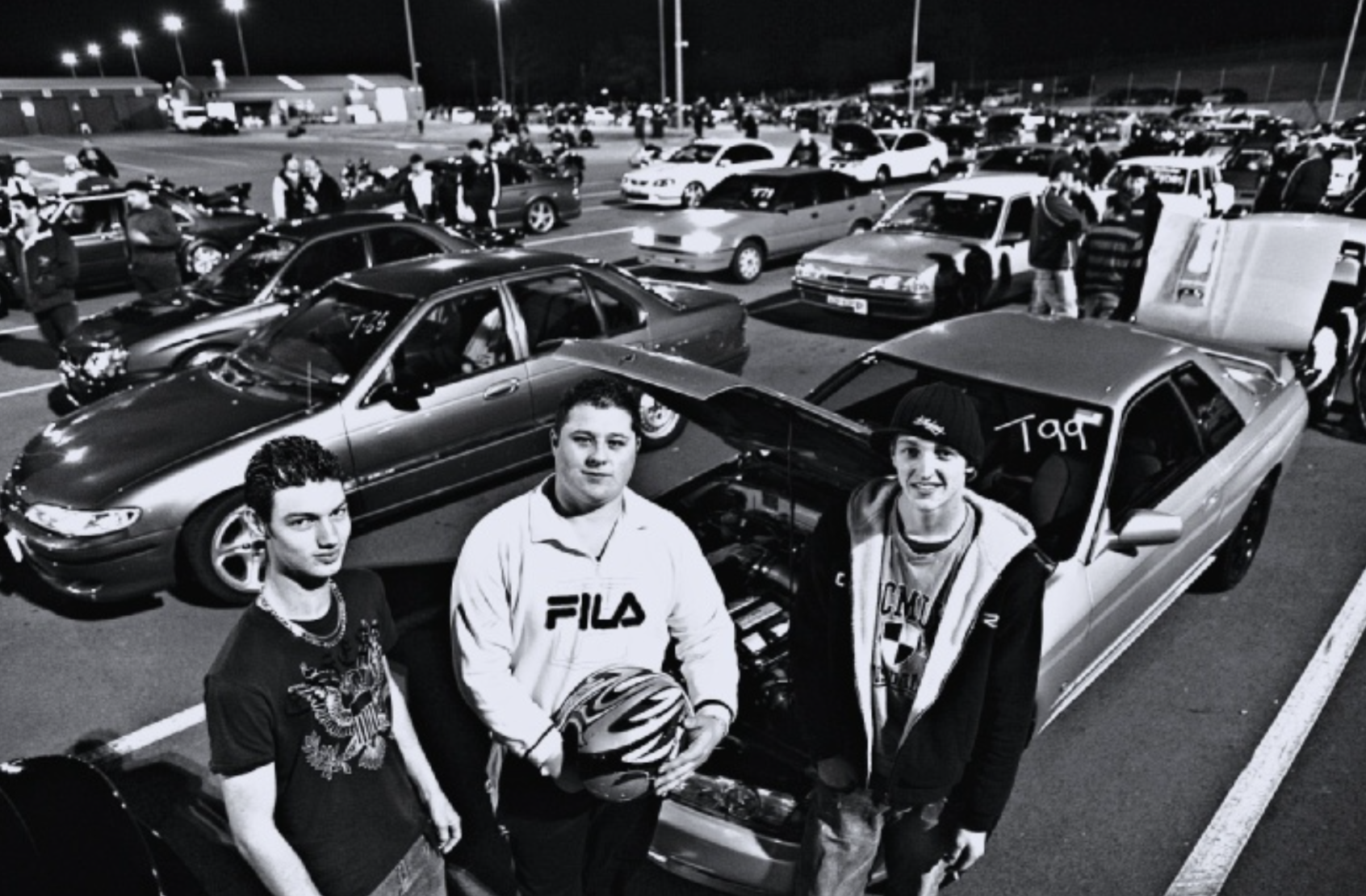 """Under control . . . """"Wicked Wednesday"""" at Eastern Creek provides a much safer environment for car enthusiasts such as Brad Steele, James Brines and Shane Russell."""