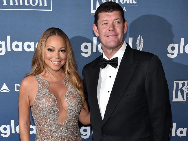 James Packer with former fiancee Mariah Carey. Photo: news.com.au