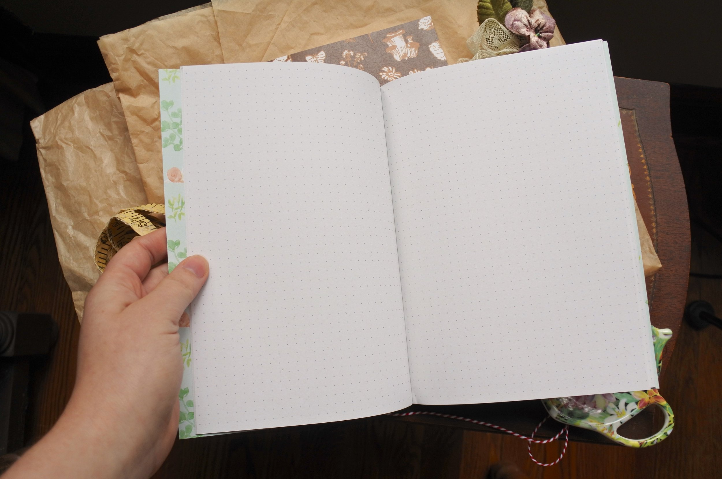 Blank Journal Spread from Cottonbook