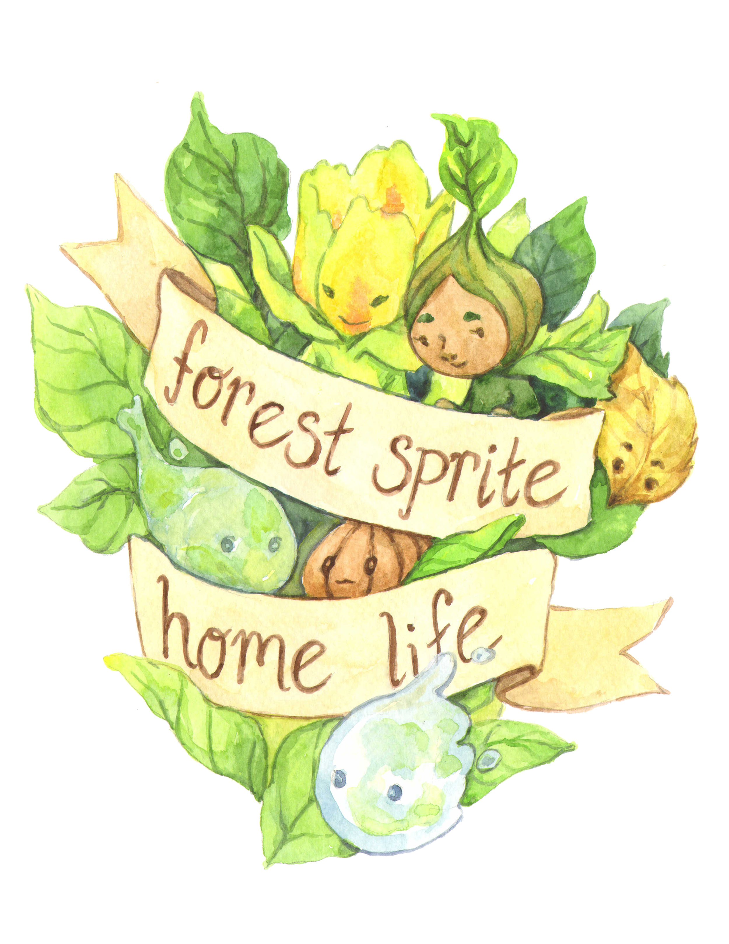 Forest Sprite Home Life Banner by Lucy Kagan