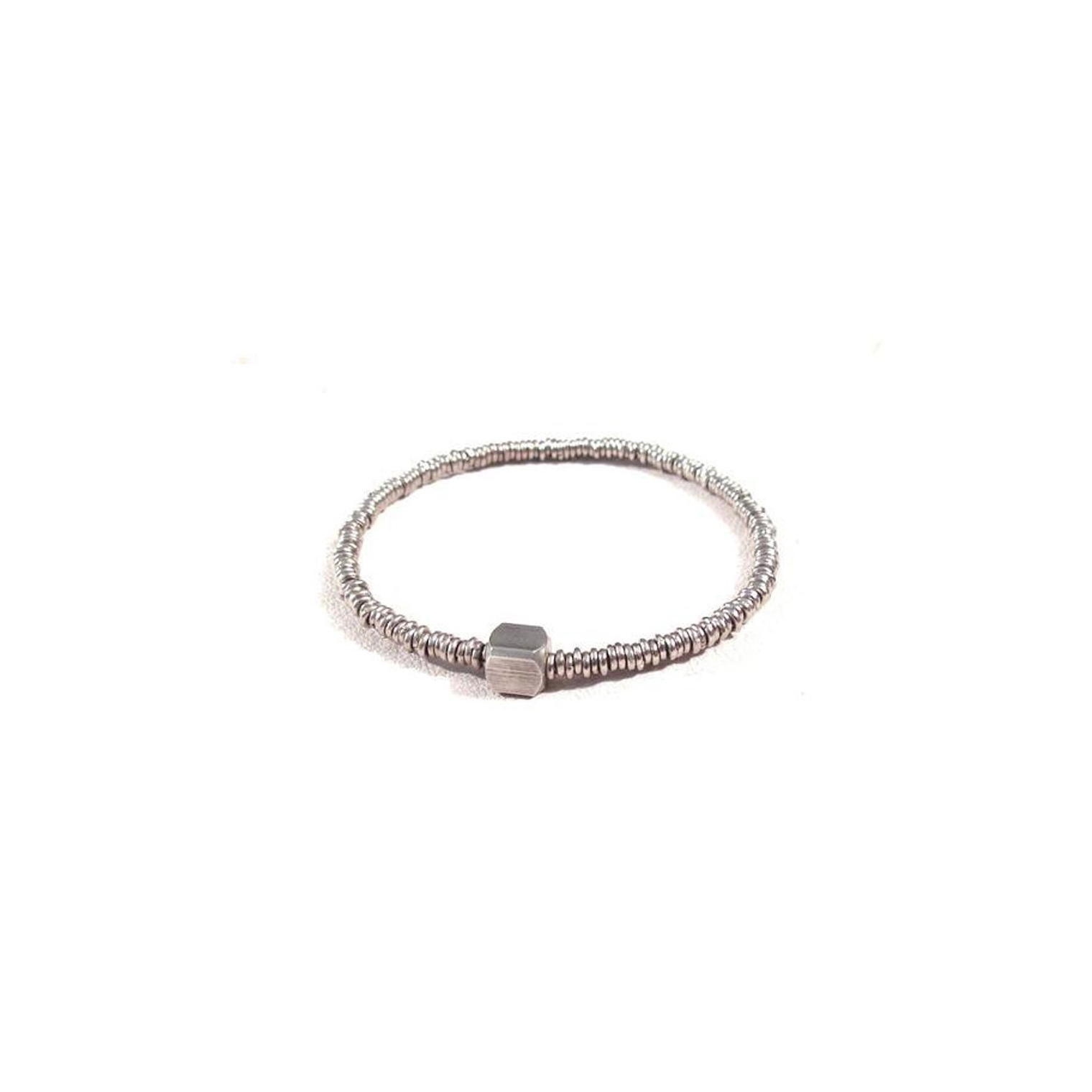 Handmade and sustainably crafted - $69 - Tough enough to survive the salt and effortlessly cool. This handcrafted bracelet featuring a white brass beads on a stretch band.Find it on CURIO