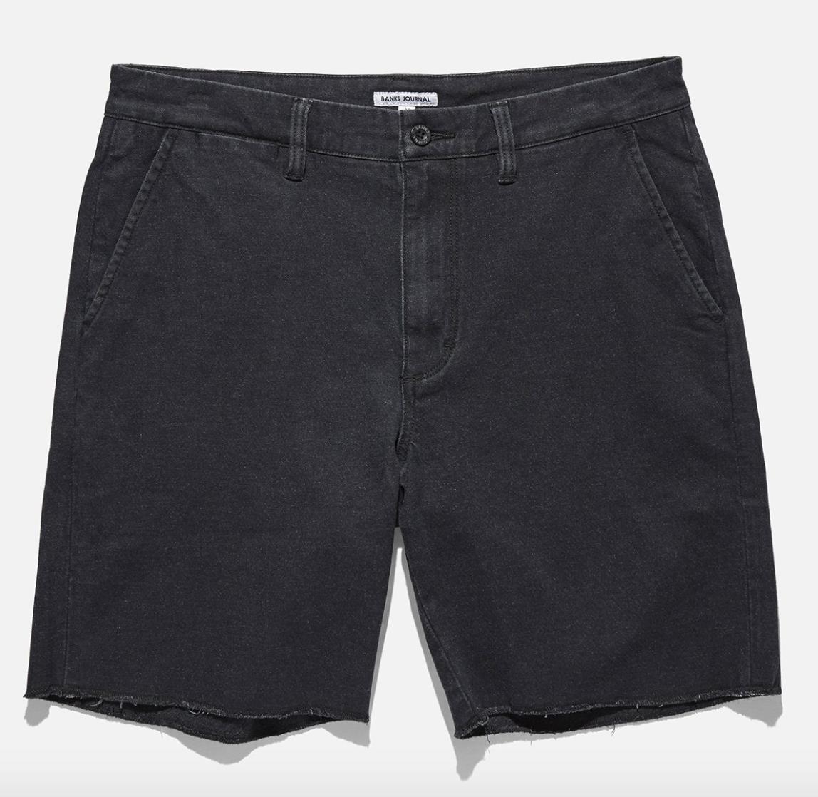 Denim Walk Shorts - $55