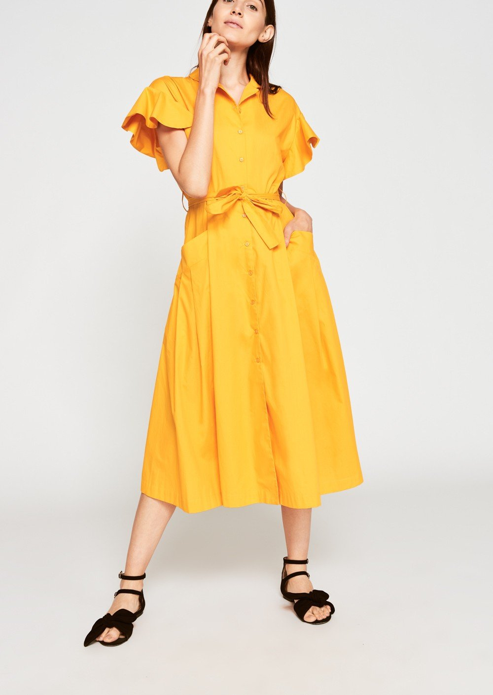 Saffron Poplin Dress from Brigitte & Stone