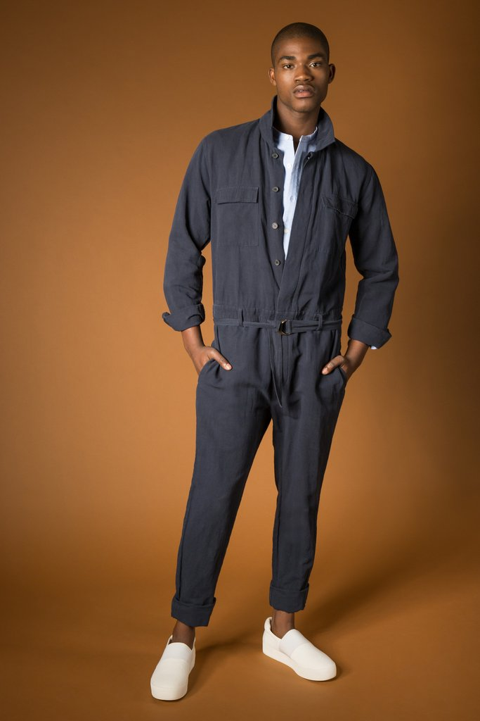 Long Sleeve Jumpsuit in Slate from Shades of Grey