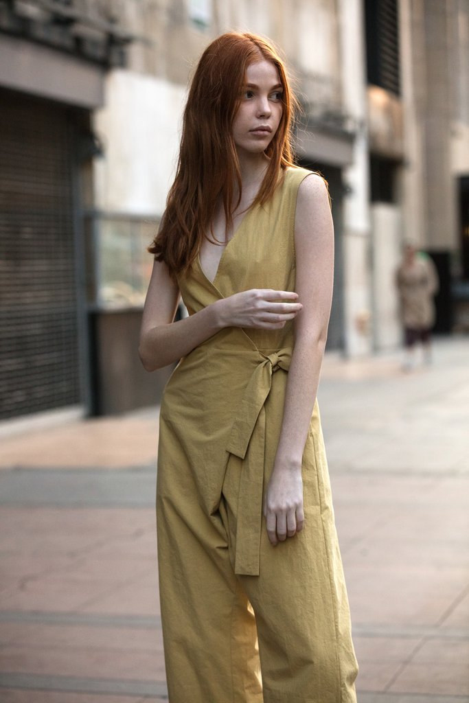 Wrap Origami Shirt in Mustard from Shades of Grey