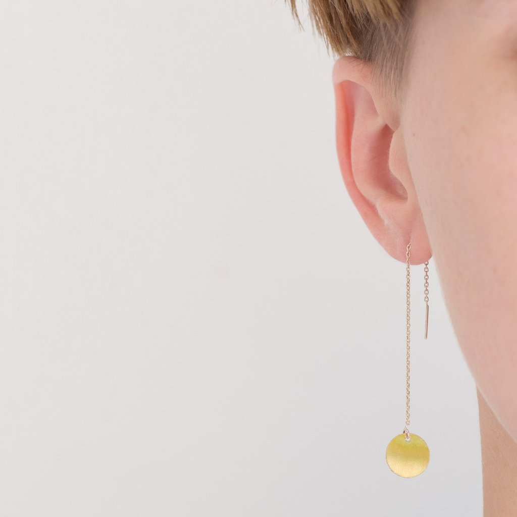 The Zoe Earring: Mixed Material from Gingerly Witty