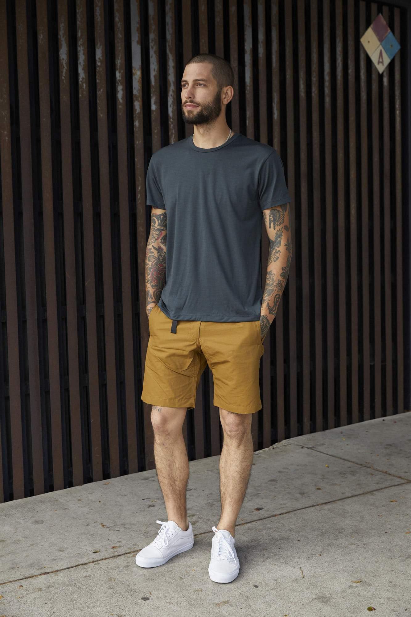 Men's Trail shorts mustard Coldsmoke