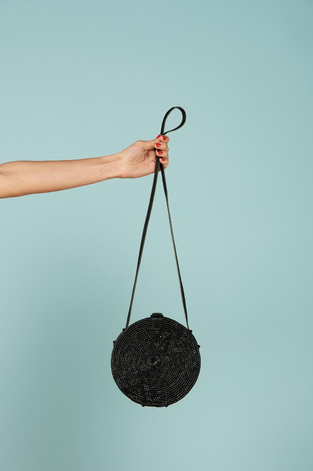 Round Woven Purse - $132
