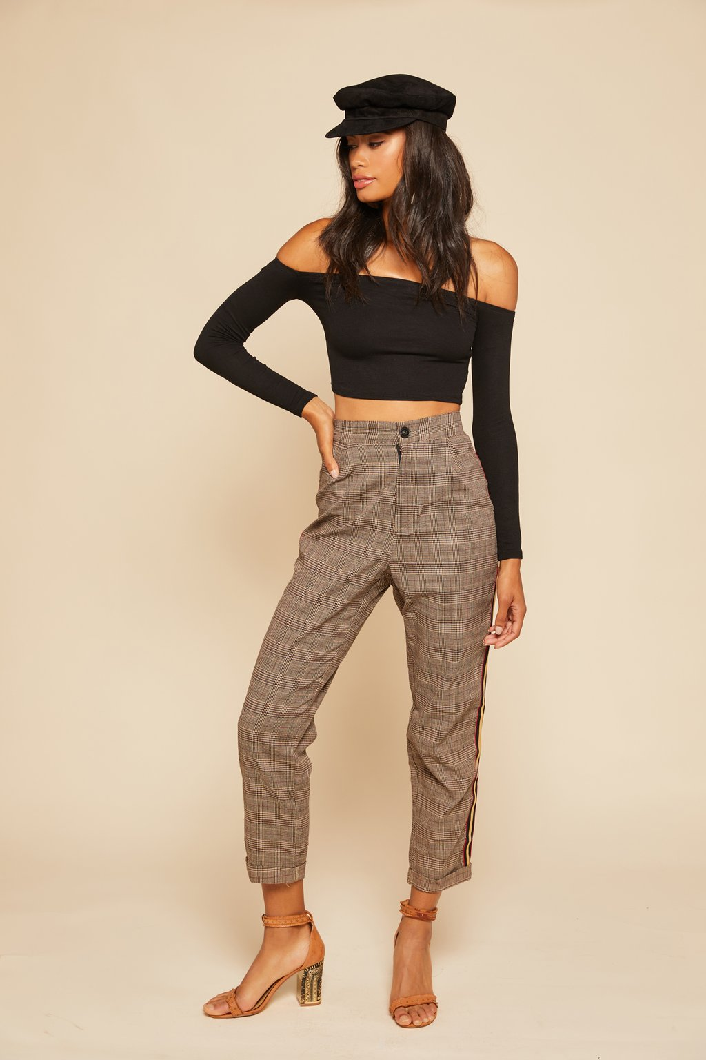 Step Up Plaid Pants - $78