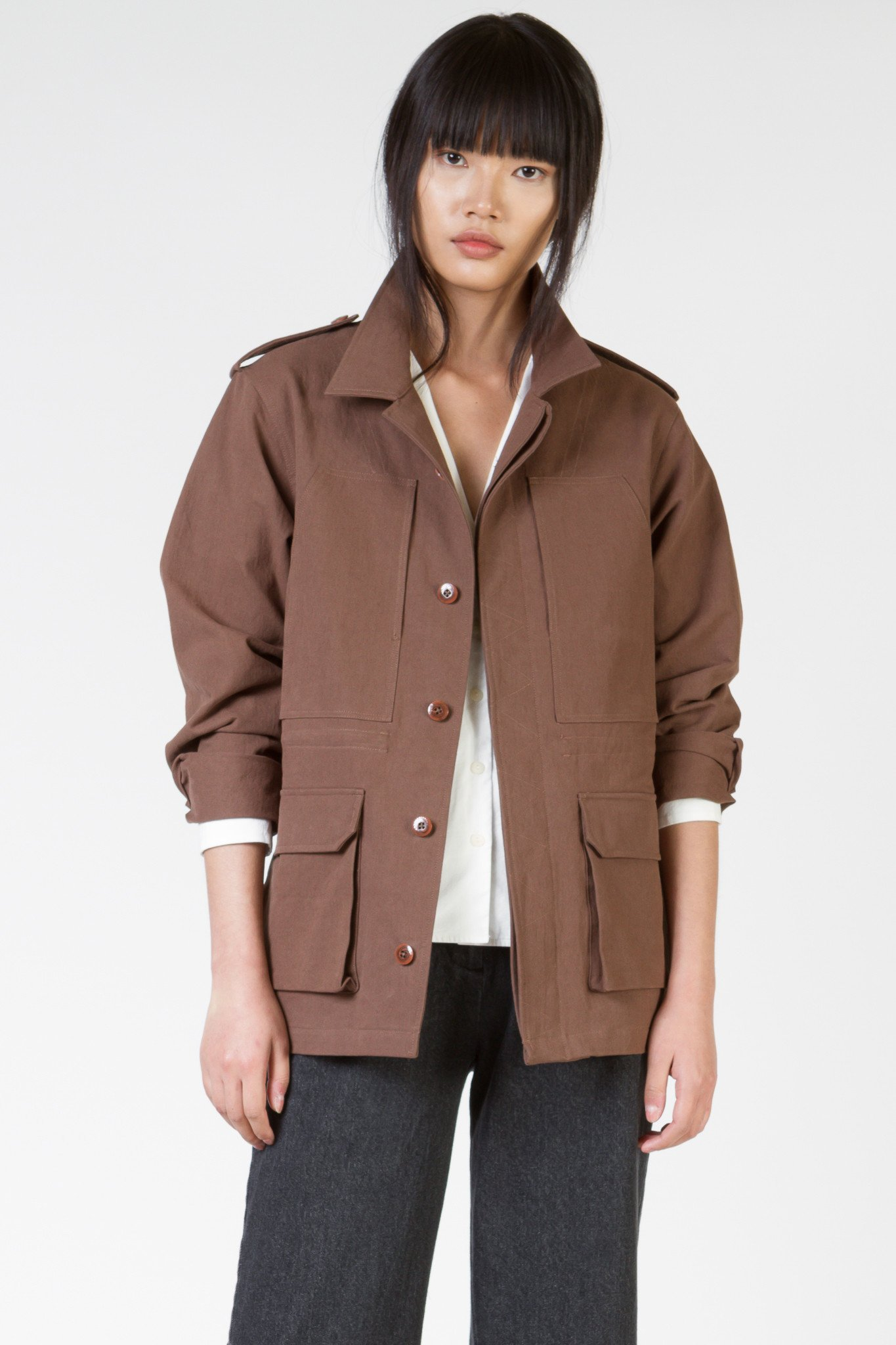 FIELD JACKET - BROWN $ 119