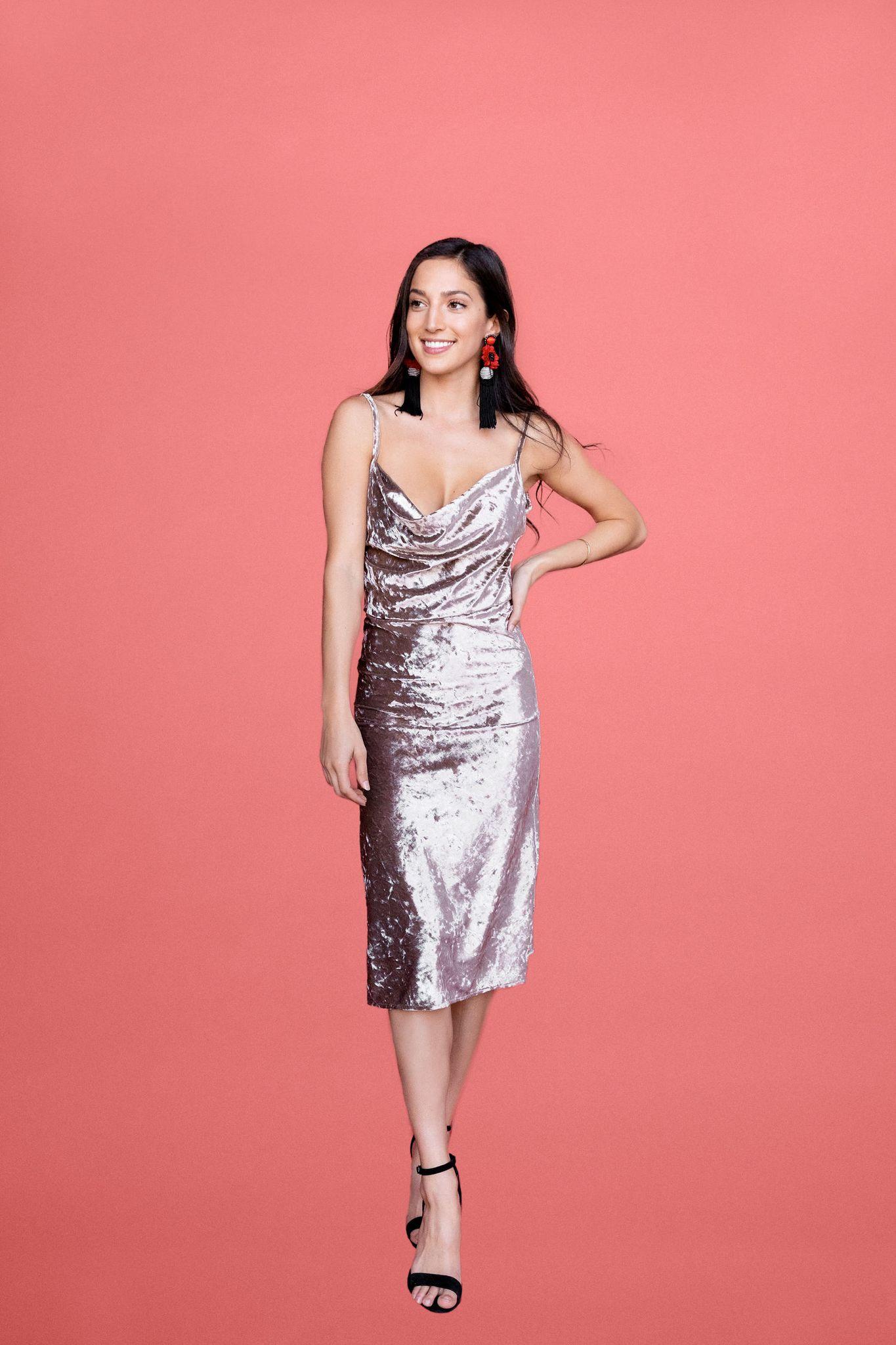 Mika Dress - Silver Velvet