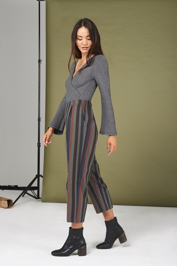 $132 Rowen Pants in Multi Stripe(Whimsy + Row) - These pants are made for all the days you want to look cute but feel really comfortable. Wait, that's everyday. They'll have your butt looking good with a stretch band in the back.