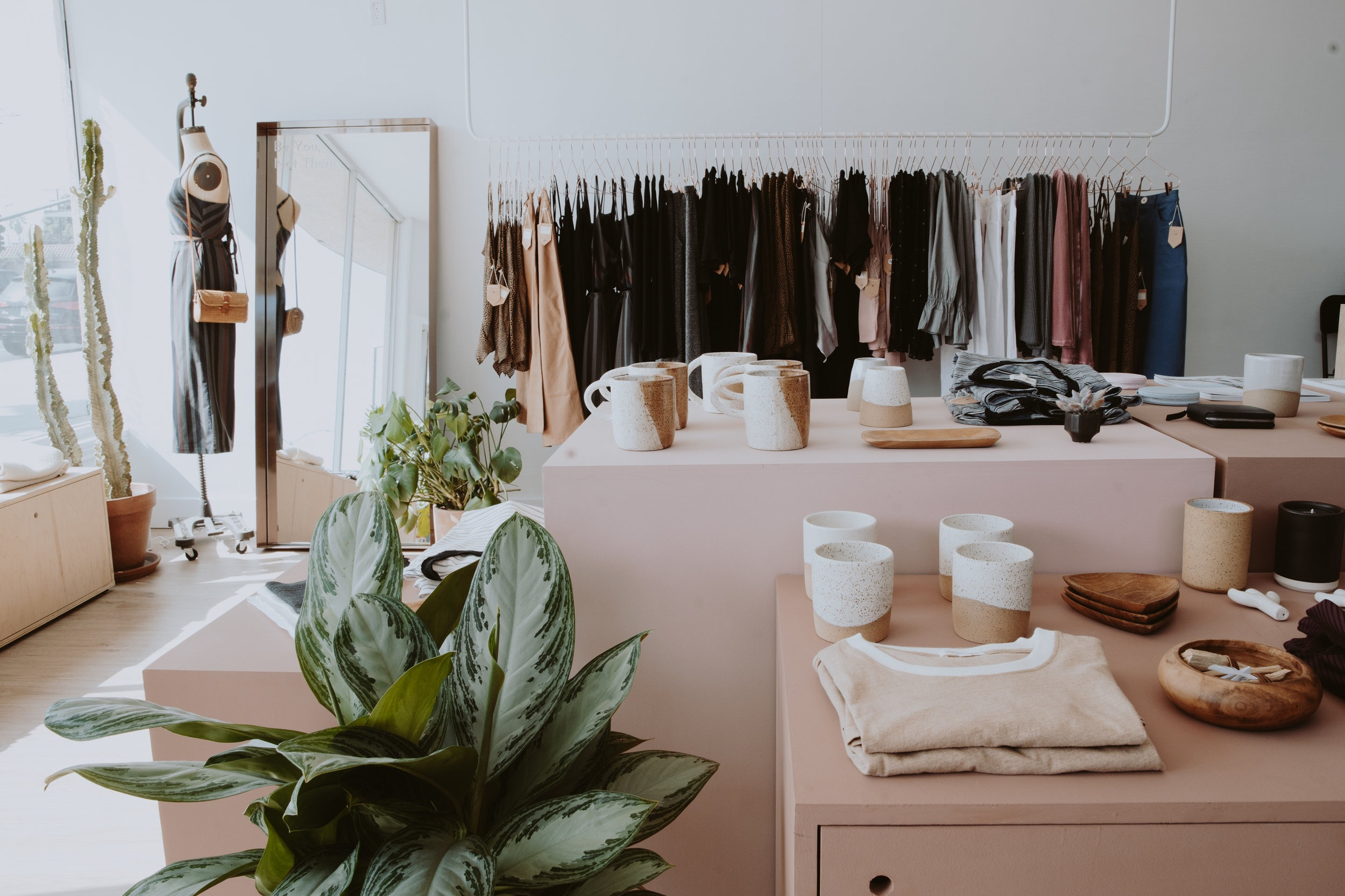 WHIMSY + ROW - Mar VistaBirthed out of a love for quality made goods and sustainable practices, Whimsy + Row's mission is to provide ease and elegance for the modern, creative woman. They use deadstock fabrics, don't use any water in production, and focus on making clothing that will last.
