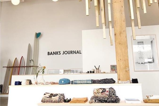 BANKS JOURNAL - Downtown LAThe Banks Journal mission is to merge style & function with a sustainable approach to design and development. They aim to use as many environmentally friendly materials as possible with PVC and phthalate free inks and FSC approved paper for all tags and catalogues.
