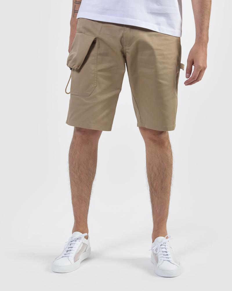 JACQUEMUS LE SHORT GADJO IN DARK BEIGE