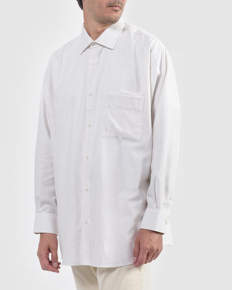 LA GRANDE CHEMISE IN OFF WHITE