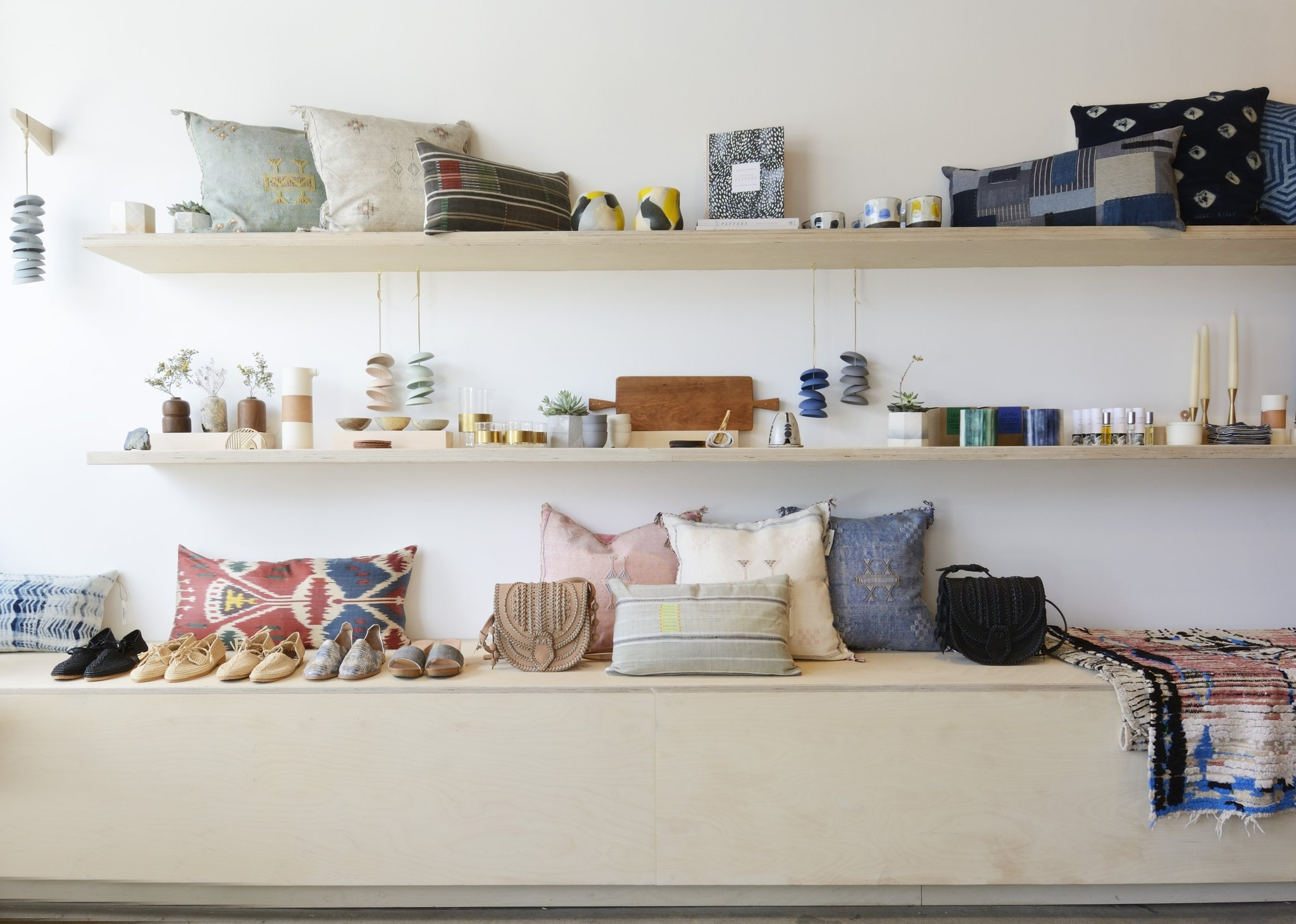 KIN AND KIND - What you'll find: accessories, textiles, and home decor from modern makers, and covet-worthy heirlooms sourced from abroad.Atwater Village: 3229 1/2 Glendale Blvd, Los Angeles, CA 90039