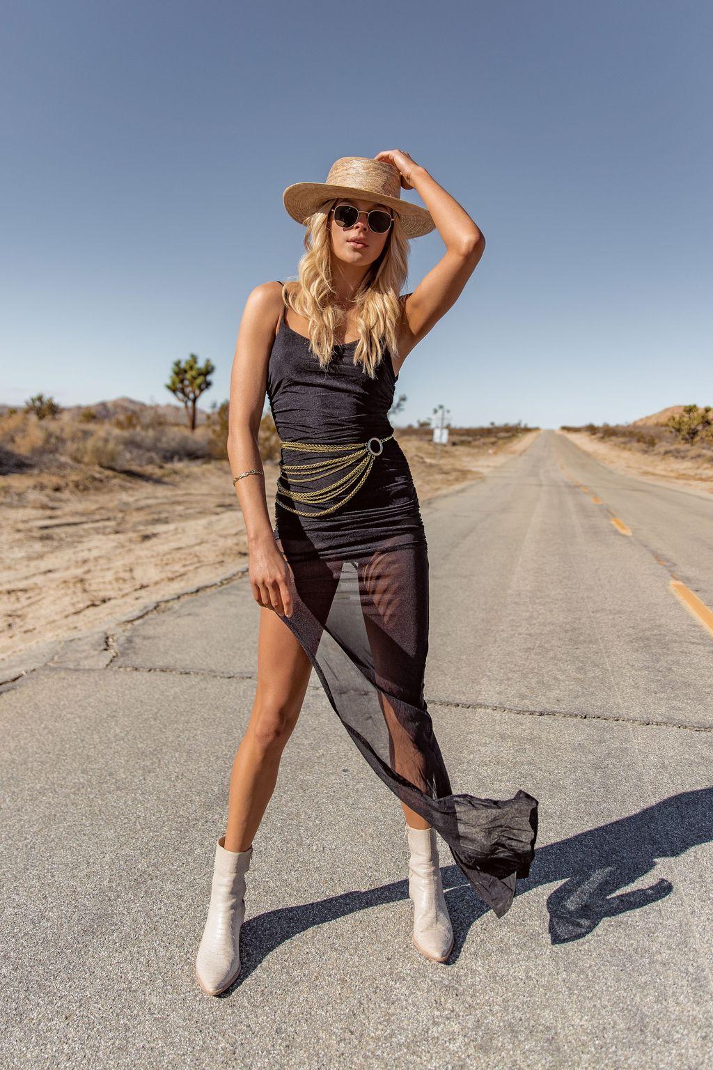 $88 Desert Winds Black Bodycon Dress -