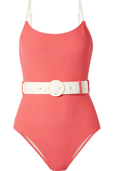 Solid & Striped - The Nina belted terry swimsuit / $168One word - groovy! Who doesn't want to feel like a bond girl running down the beach?