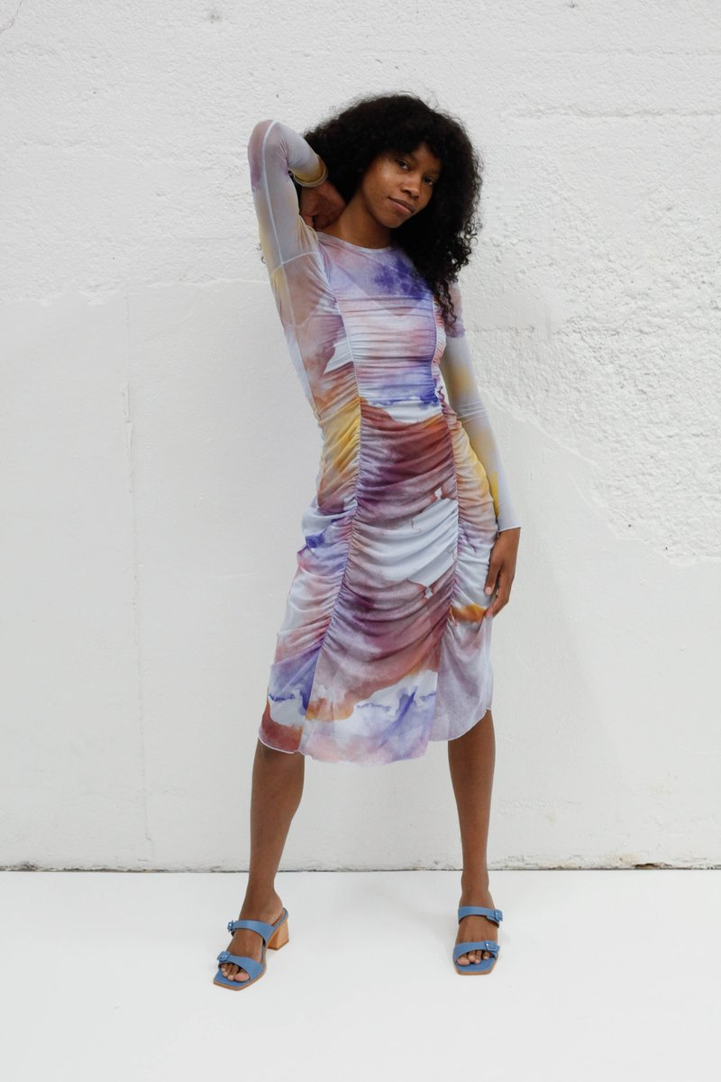 "Lisa Says Gah! - Celine Dress / $240This watercolor inspired dress just screams ""wear me to a party and dance the night away!"""