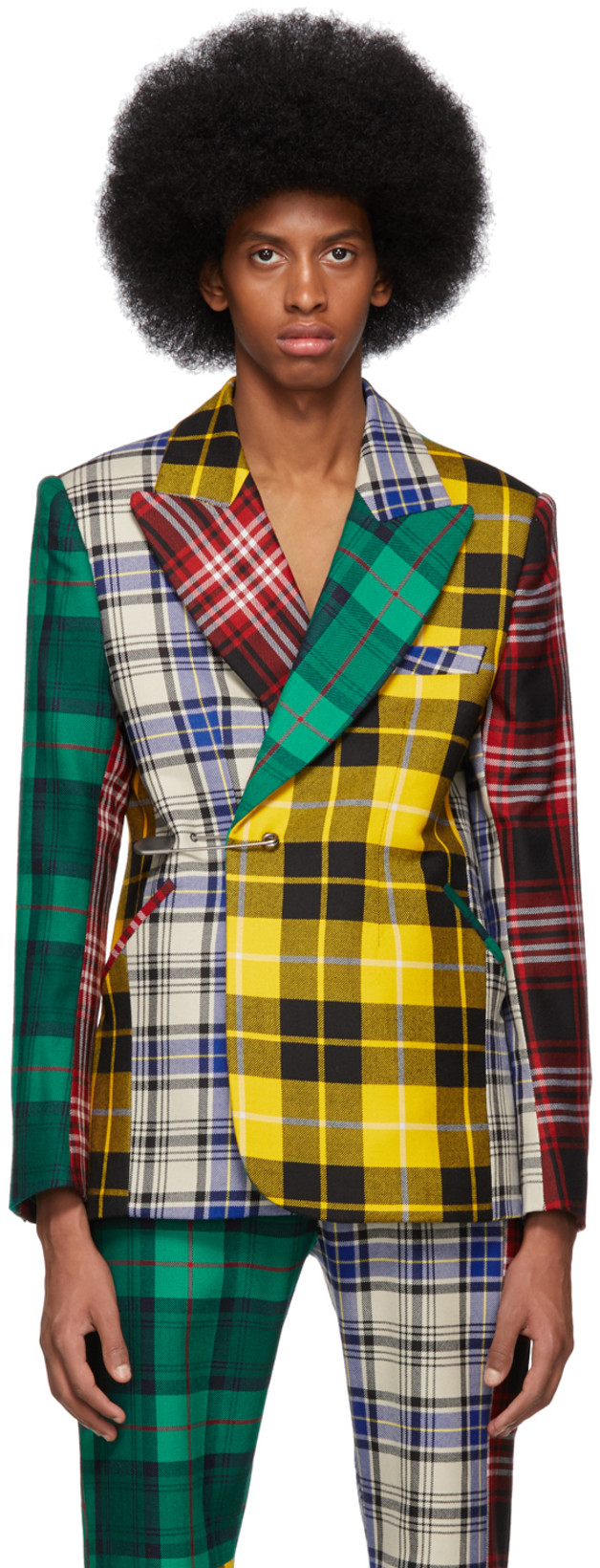 Charles Jefferey Loverboy - Multicolor Suit (jacket)/ $689Business in the shape but party in the pattern - this suit jacket is certain to make statement!