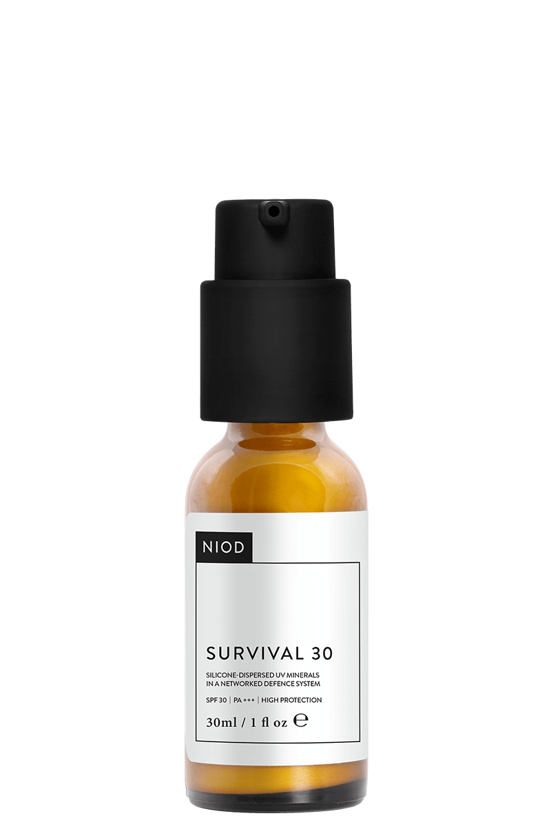 NIOD - Survival / $30Despite their lightweight texture, these formulations offer a broad selection of advanced technologies to target the effects of oxygen radicals including the superoxide radical, nitrogen radicals, carbonyl radicals, glycation and advanced glycation end-products (AGE), pollution, smog, stress, infrared and blue light!