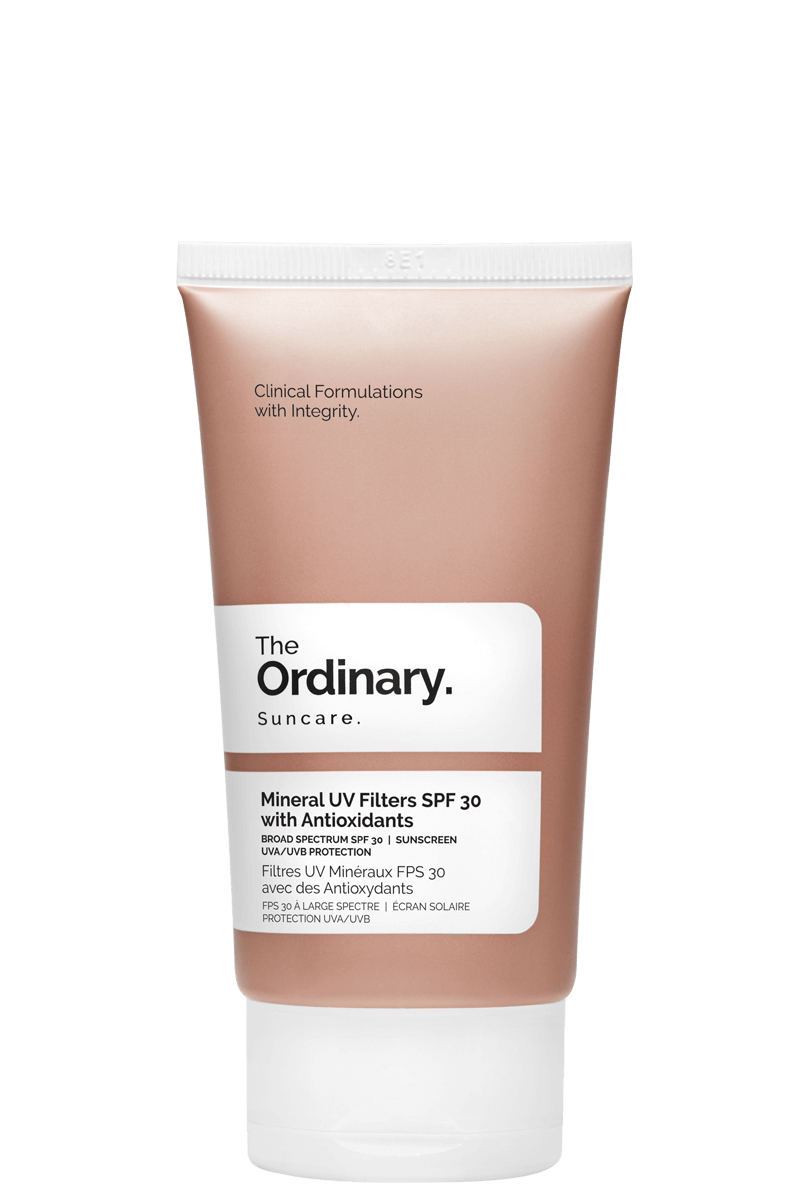 The Ordinary - Mineral UV Filters / $10The Ordinary range of Mineral UV Filters formulas' offer SPF protection along with antioxidant, hydration, and anti-irritant support.