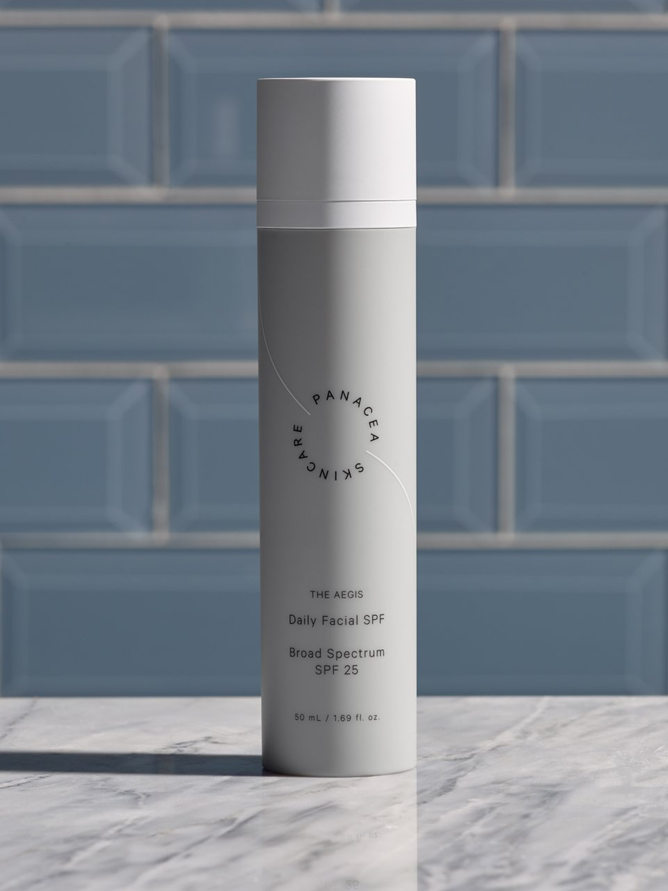 The Panacea - Daily Facial SPF / $32This lightweight sunscreen contains SPF 25 and broad spectrum UVA/UVB protection, shielding you against harmful environmental factors. Virtually scentless, our SPF can be used under makeup and leaves your skin with a non-greasy finish.