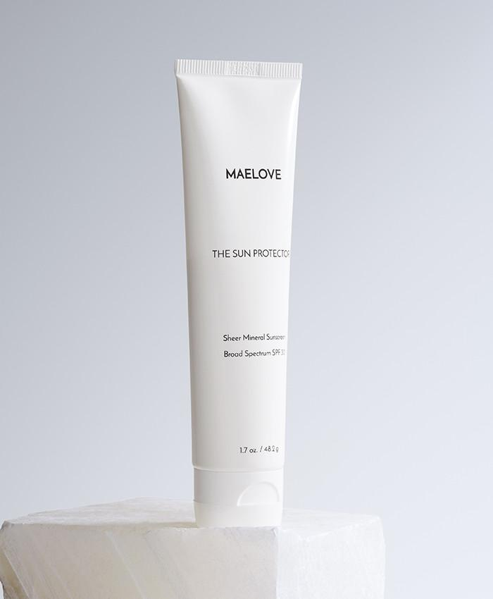 Maelove - Sun Protector / $20This 100% mineral sunscreen is both silky smooth and light as air. And the best part? It can double as a makeup primer!
