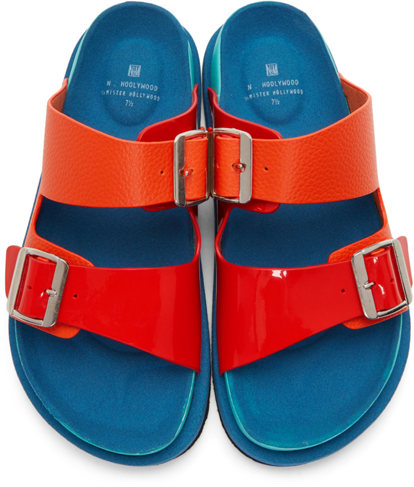 N. Hoolywood - Multicolor Strap Sandals / $198Patent leather and bright enough to spice up any look.