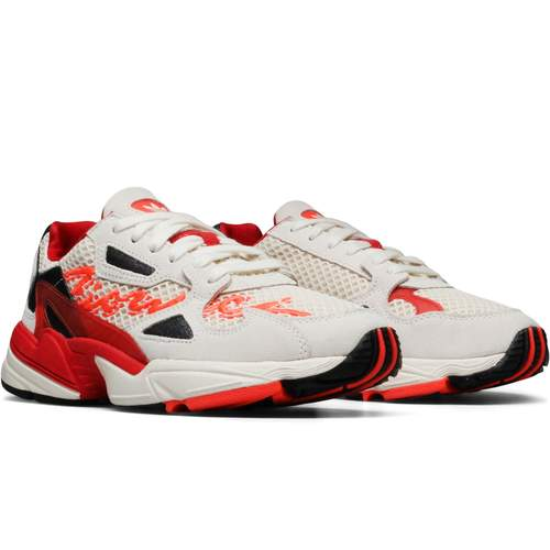"""Adidas - Falcon W / $150""""In 2019, there is no more expedient point of convergence for high fashion, street style and youth culture than athletic wear. Fiorucci have teamed up with Adidas to bring their signature brand of fun loving, attention grabbing, youthful elegance to a capsule collection of women's footwear and apparel."""""""