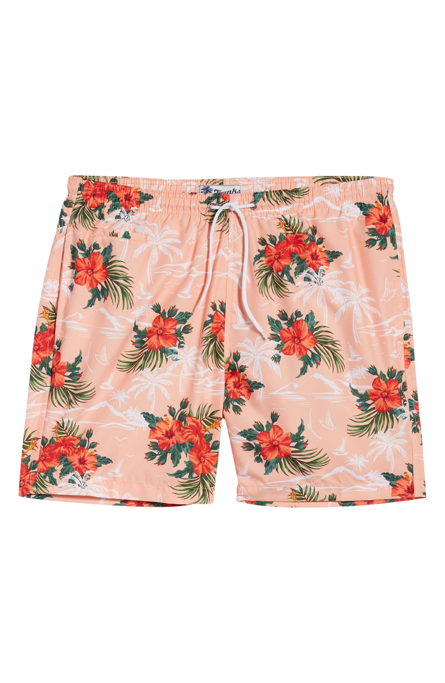 Trunks Surf & Swim Co. - Sano Tropical Print Swim Trunks / $54.00Doesn't quite feel like summer to you without a tropical print? Go for this fun (without being gaudy) trunk!