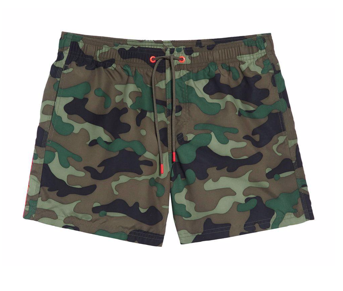 Sundek - Stretch Waist Short Swim Trunks / $139.00Camo is still in and hot! These shorts are the perfect bold, camo print for the summer.