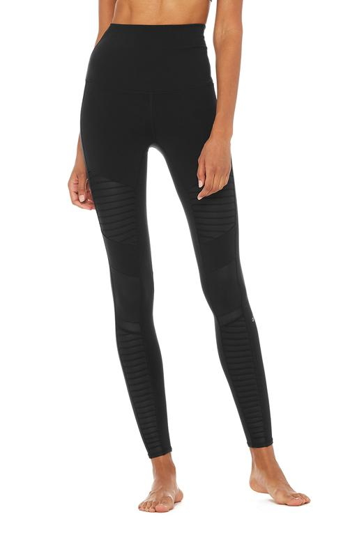 alo - Extreme High-Waist Moto Legging / $118.00These moisture wicking moto leggings are the perfect pair to take you from the gym to drinks with your friends.