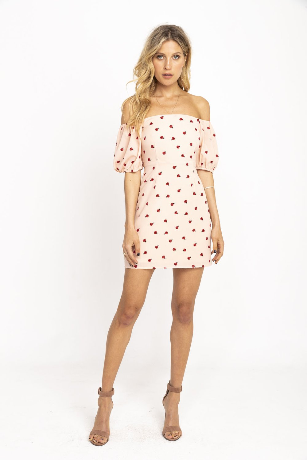 Endless Summer - Elsa Mini / $148.00Nothing quite says summer so perfectly than this off the shoulder ladybug mini.