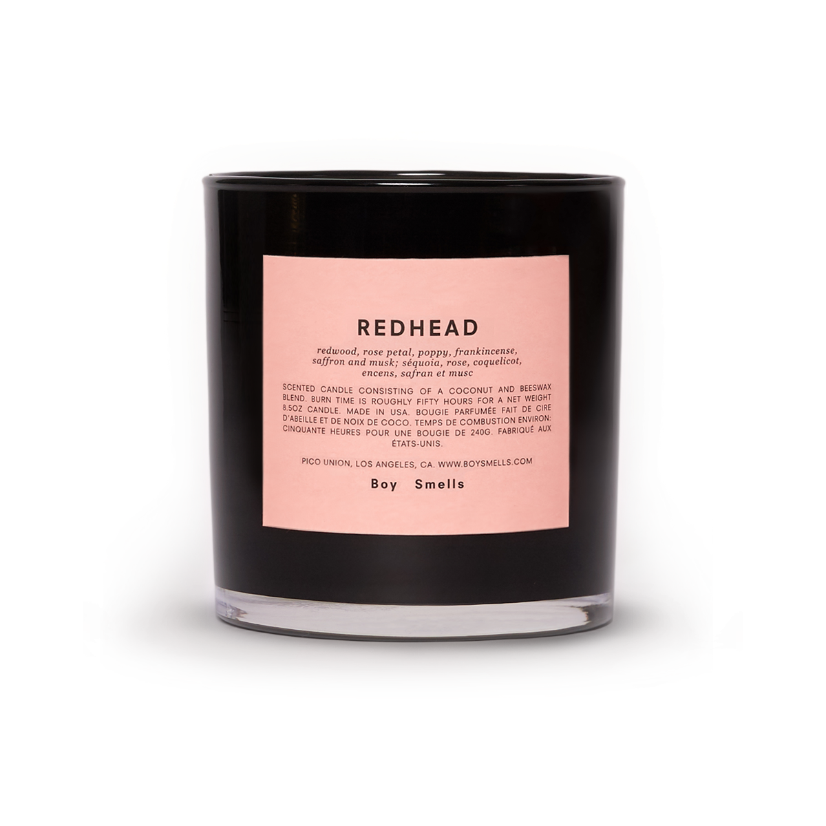 """Boy Smells - Redhead / $32""""Redheads are rare and fervent, much like the ingredients in this namesake candle."""""""