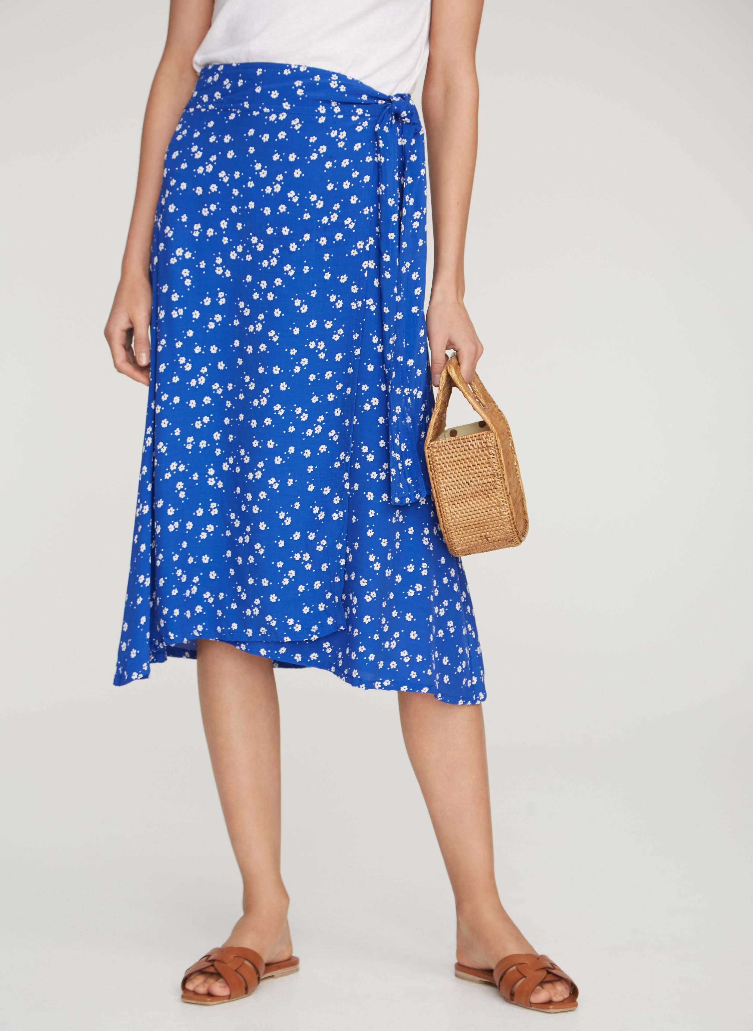 Faithfull the Brand - Valencia Wrap Skirt / $149.00This is the perfect piece to wear all summer long. The wrap allows for coverage while staying breezy.