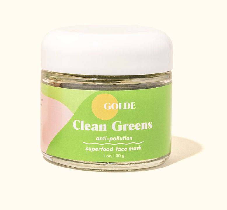 Golde - Anti-Pollution Mask / $34This nourishing face mask is made with 100% pure, edible superfoods. Featuring chlorella, spirulina, and mango juice, it's basically a green smoothie for your skin.