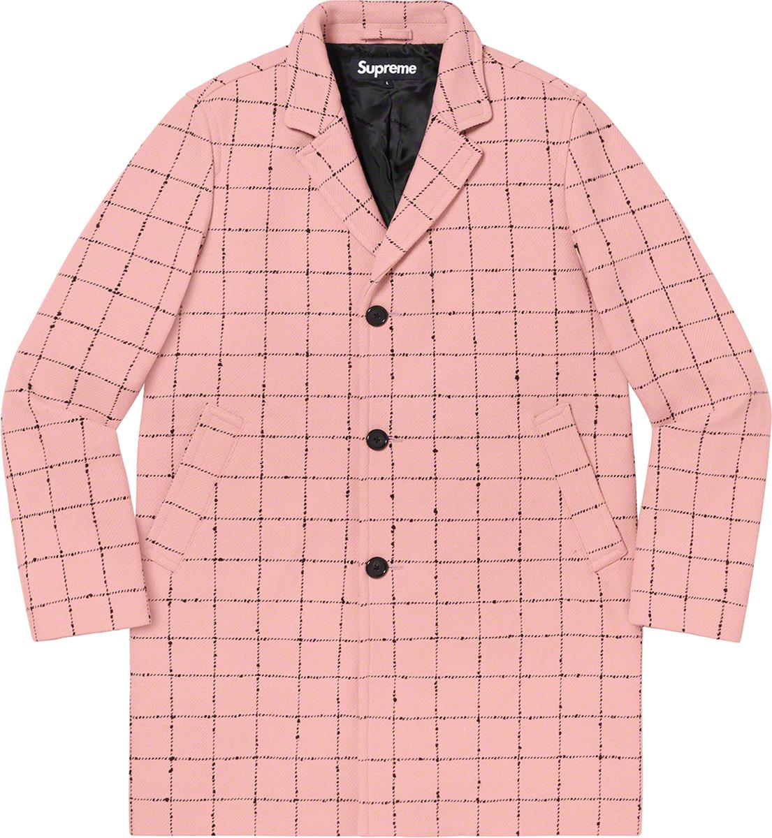 Wool Windowpane Overcoat - She's pink. She's got a chic pattern. She's ready to be worn all season long.