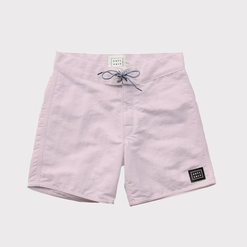 SALT SURF - 50's Surf Trunk- Pale Pink / $72.00The most versatile pair of board shorts you'll own. With a classic take on design, these trunks will get you through any surf session and straight into town.