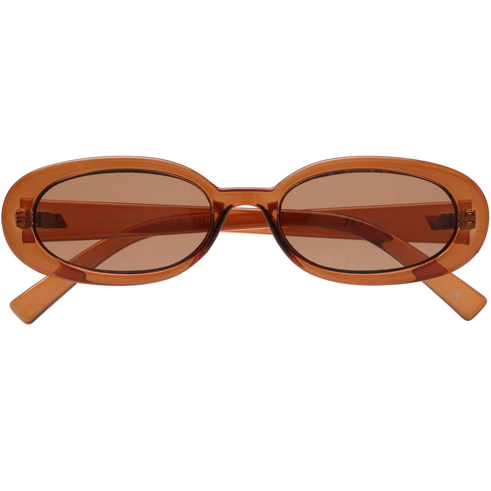 LeSpecs - Outta Love - Caramel / $59Offering a minimal update on a nineties look, this oval silhouette features a modern flat profile and iconic Le Specs shape.